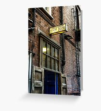 stage door Greeting Card