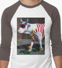 Painted Cow on Holiday - at Floriade Men's Baseball ¾ T-Shirt
