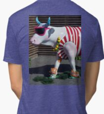 Painted Cow on Holiday - at Floriade Tri-blend T-Shirt