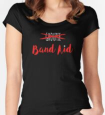Band Aid Women's Fitted Scoop T-Shirt