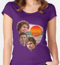 3 Cera Sunset Women's Fitted Scoop T-Shirt