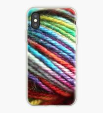 Colorful Yarn Skein for knitters iPhone Case