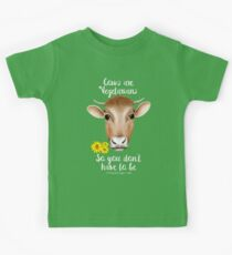 Cows are Vegetarians Funny Saying Kids Tee
