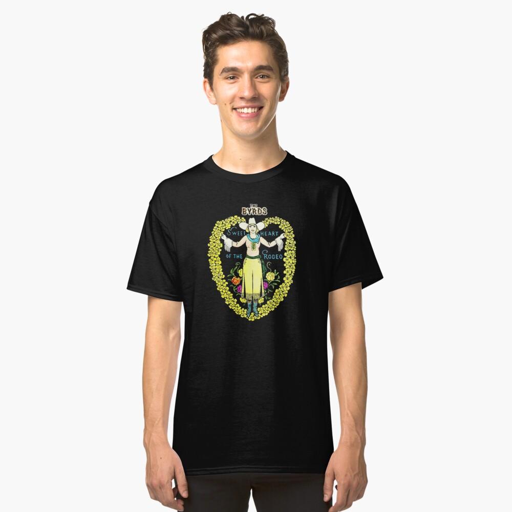 Camiseta clásicaEl amor de Byrds de la camisa del rodeo Delante