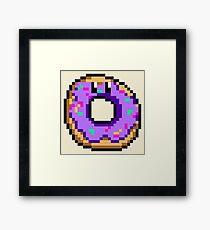 Pixel Donut Framed Print