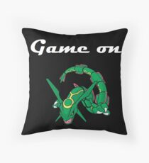 Game on Rayquaza Throw Pillow
