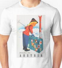 Winter in Austria Vintage Travel Poster Unisex T-Shirt