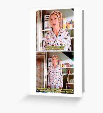 Buffy's Yummy Sushi Pyjamas  Greeting Card