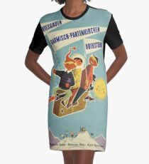 Austria, Germany Bavarian Alps Vintage Travel Poster Graphic T-Shirt Dress