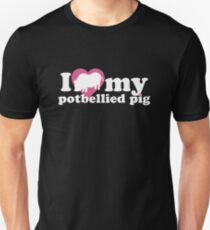 I LOVE MY POTBELLIED PIG (BLK) T-Shirt