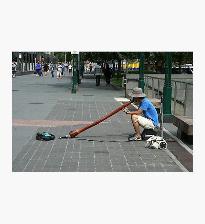 Didgeridoo player, Southbank Melbourne  Photographic Print