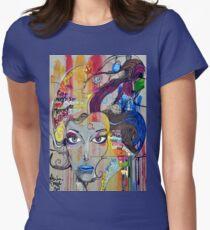 Colorful Graffiti Street Art Women's Fitted T-Shirt
