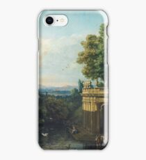 Vintage famous art - Bernardo Bellotto  - Architectural Caprice With A Palace 1765 iPhone Case/Skin