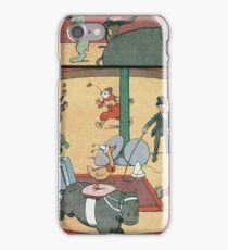 Vintage famous art - Benjamin Rabier - Animal Circus  iPhone Case/Skin