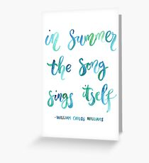 Summer Song Greeting Card