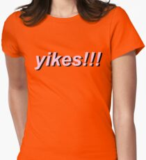yikes!!!! Womens Fitted T-Shirt