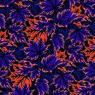 Leaves - Blue/Orange by Andrea Muller