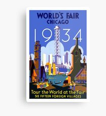 World's Fair Chicago 1934 Vintage Travel Poster Metal Print