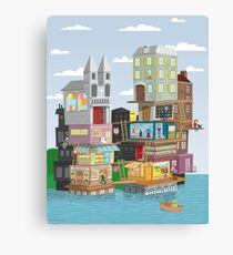 The French Village Build Up Canvas Print