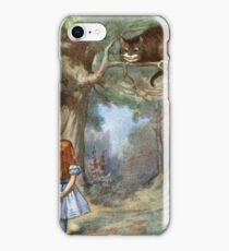 Vintage famous art - Alice In Wonderland - The Cheshire Cat iPhone Case/Skin