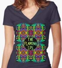 The Flaming Lips - Psychedelic Pattern 1 Women's Fitted V-Neck T-Shirt