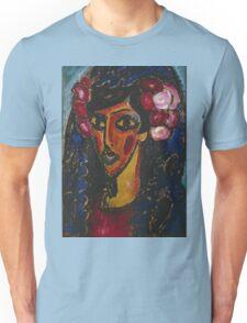 Vintage famous art - Alexei Jawlensky  - The Blue Mantilla 1913 Unisex T-Shirt