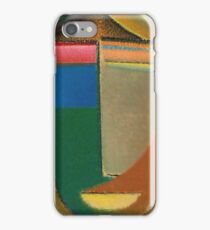 Vintage famous art - Alexei Jawlensky  - Abstract Head iPhone Case/Skin