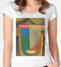 Vintage famous art - Alexei Jawlensky  - Abstract Head Women's Fitted Scoop T-Shirt
