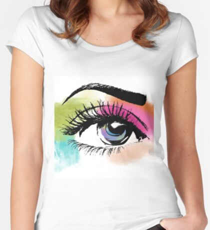 Eyeful Women's Fitted Scoop T-Shirt