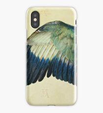 Vintage famous art - Albrecht Durer - Wing Of A Blue Roller iPhone Case/Skin