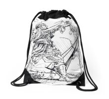 Conqueror of the Sand Sea Coast Drawstring Bag