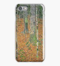 Gustav Klimt - The Birch Wood -  Klimt -Birch Trees  iPhone Case/Skin