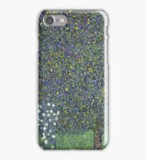 Gustav Klimt - Roses Under The Trees-   Gustav Klimt - Landscape iPhone Case/Skin