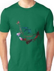Never Grow Up Nebula Blue Unisex T-Shirt
