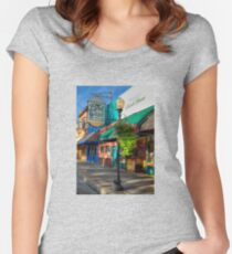 Historical Whiskey Row Prescott Arizona Women's Fitted Scoop T-Shirt