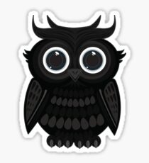 Black Owl Sticker