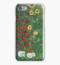 Gustav Klimt - Farm Garden With Flowers - Klimt- Landscape- Garden With Flowers iPhone Case/Skin
