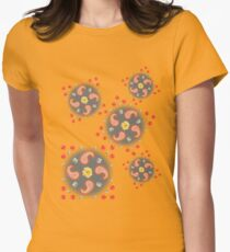 Paisley - Mixed Roses  Womens Fitted T-Shirt