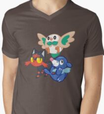Pokemon Sun and Moon Starters Men's V-Neck T-Shirt