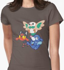 Pokemon Sun and Moon Starters Women's Fitted T-Shirt