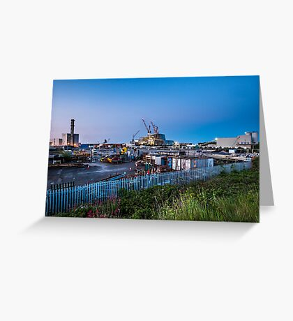 Poolbeg Incinerator, Dublin Greeting Card