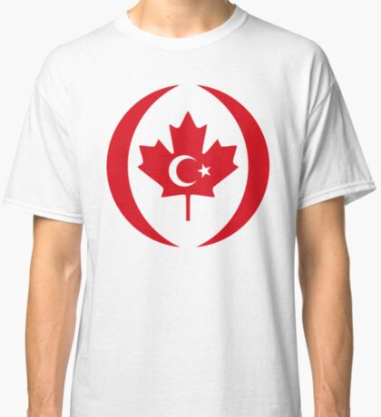 Turkish Canadian Multinational Patriot Flag Series Classic T-Shirt
