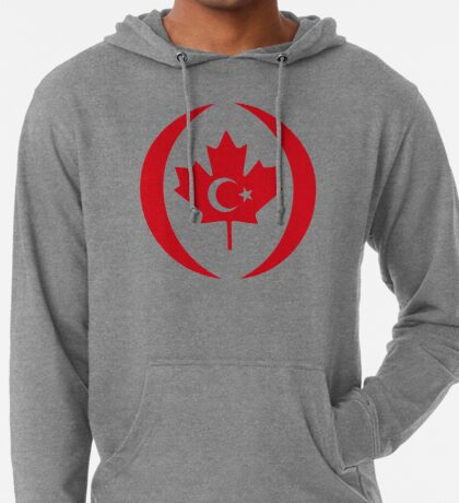 Turkish Canadian Multinational Patriot Flag Series Lightweight Hoodie