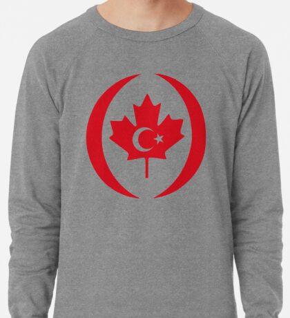 Turkish Canadian Multinational Patriot Flag Series Lightweight Sweatshirt