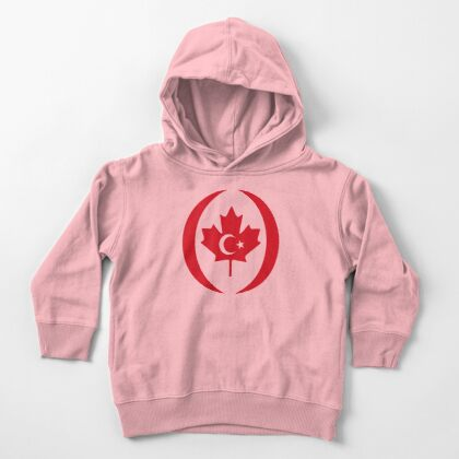 Turkish Canadian Multinational Patriot Flag Series Toddler Pullover Hoodie