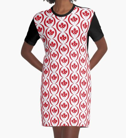 Turkish Canadian Multinational Patriot Flag Series Graphic T-Shirt Dress