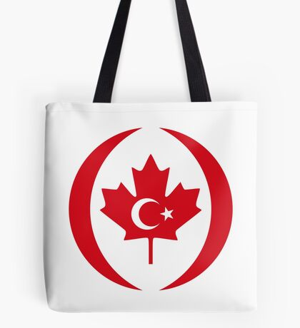 Turkish Canadian Multinational Patriot Flag Series Tote Bag