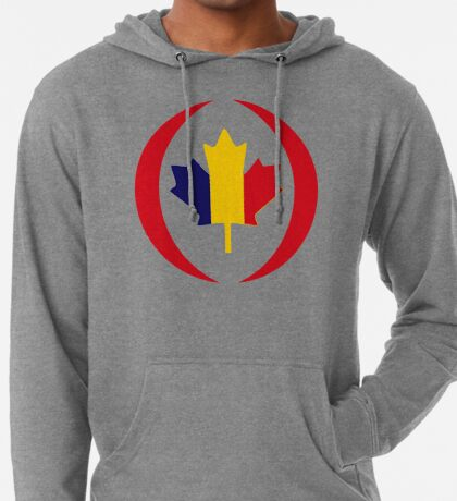 Romanian Canadian Multinational Patriot Flag Series Lightweight Hoodie