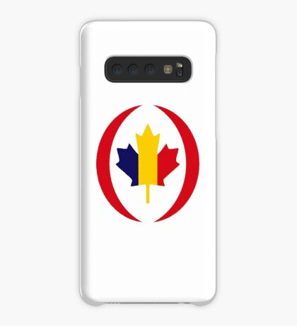 Romanian Canadian Multinational Patriot Flag Series Case/Skin for Samsung Galaxy