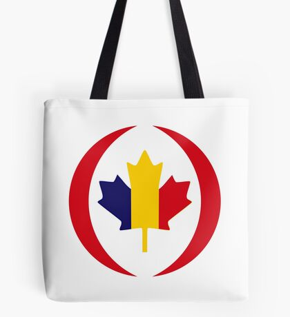 Romanian Canadian Multinational Patriot Flag Series Tote Bag